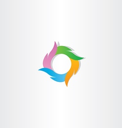 Colorful logo circle wave business icon sign vector