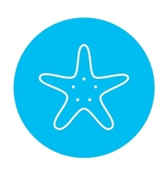 Starfish line icon vector