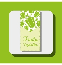 Fruits and vegetables design vector