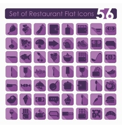 Set of restaurant icons vector