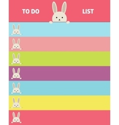 Design notebook format banner with bunnies vector