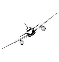 Outline jet passenger aircraft vector