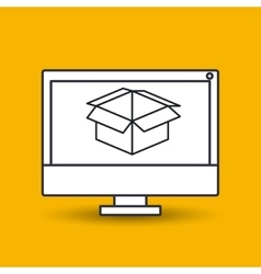 Box carton icon design vector