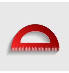 Ruler sign vector