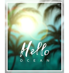 Summer background sea beach palms vector