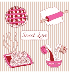 Bakery Sweet love vector image
