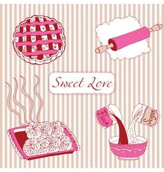Bakery sweet love vector