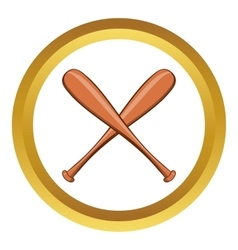 Baseball bat icon cartoon style vector
