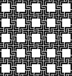 Black and white checkered geometric seamless vector