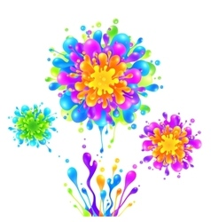 Bright rainbow colors paint splash firework vector image vector image
