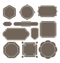 Contour label vector image vector image
