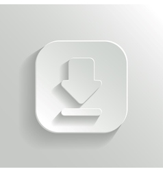 Download icon - white app button vector
