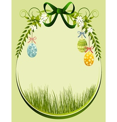 Easter decoration frame vector image vector image