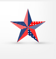 five-pointed star on white background with usa vector image