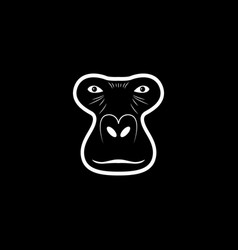 Gorilla head logo animal mascot logotype vector