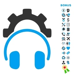Headphones configuration flat icon with vector