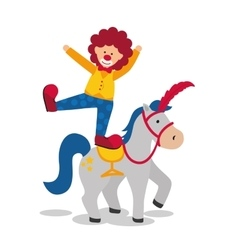 Horse and clown icon circus and carnival design vector
