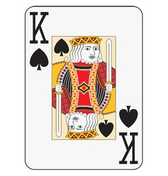 Jumbo index king of spades vector