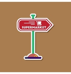 Paper sticker on stylish background supermarket vector