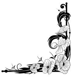 poppy frame vector image vector image