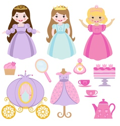 Princess party vector image vector image