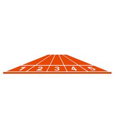 running track start position in orange design vector image