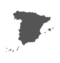 Spain map black icon on white background vector
