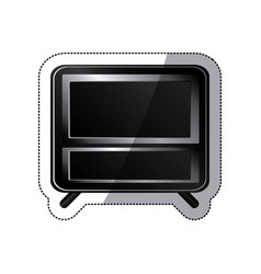 sticker black box empty screen alarm clock vector image