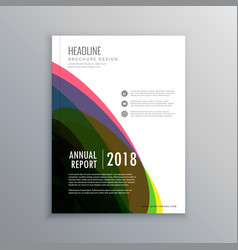 Stylish corporate office magazine cover page vector