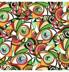 Vivid eyes seamless pattern vector