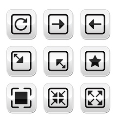 Website screen size buttons set - full screen vector