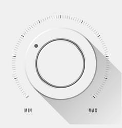 White technology volume knob vector