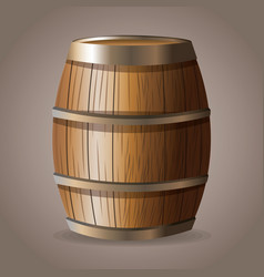 Wooden barrel wine drink vector