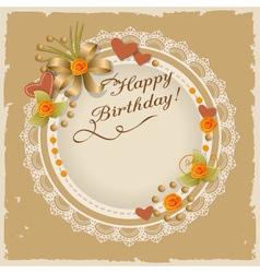 Scrapbooking birthday card vector image
