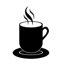 Mug with hot beverage icon image vector