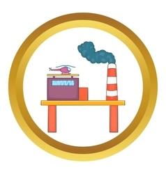 Oil platform icon vector