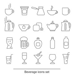 Beverage icons set beverage icons set vector