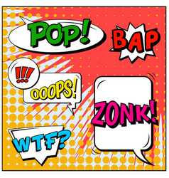 Abstract creative concept comic pop art vector