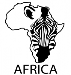 zebra silhouette africa vector image