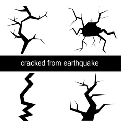 a crack from the earthquake vector image