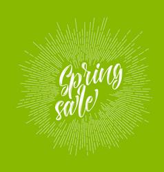 Modern hipster spring sale lettering vector