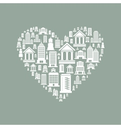 Heart the house2 vector
