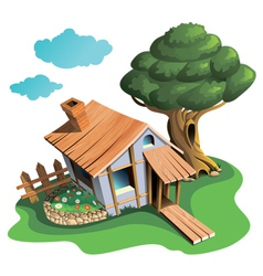 Cozy village house vector image