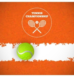 Tennis ball on court vector