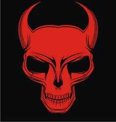 Red demon head vector