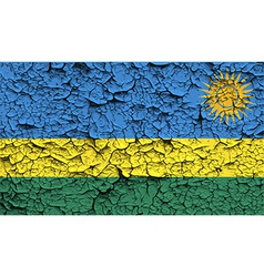 Flag of rwanda with old texture vector