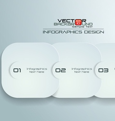 Paper rounded rectangles infographics design vector