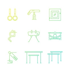 Set of gymnastics icons vector