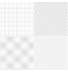 Set of grid seamless patterns vector