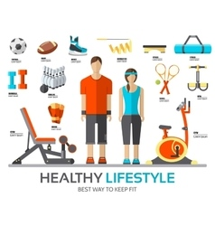 Sport life stile infographic with gym device vector